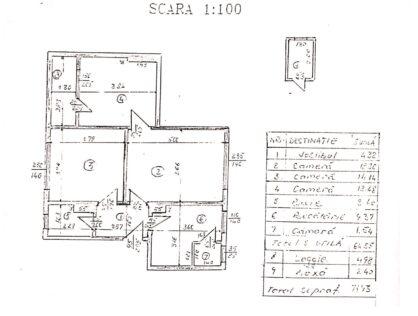 Vanzare apartament trei camere imobil 1960 Primaverii Herastrau